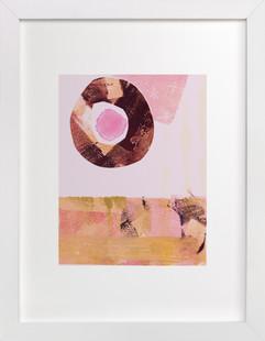 Pink & Brown Art Print