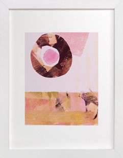Pink & Brown Art Print
