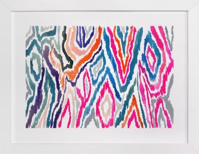 Bright Ikat Art Print