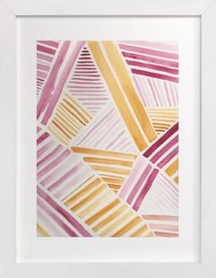 Patchwork Stripe Art Print