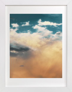 Turquoise Heavens Art Print