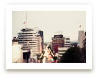 Capitol Records at dusk