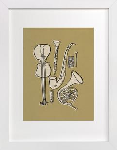 Jazz Duet #1 Art Print