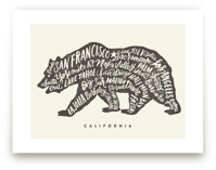 California Bear by Griffinbell Paper Co.