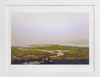 hazy lake Art Print