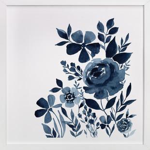 Moonlit Indigo Garden Art Print