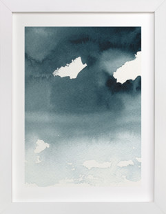 Mist Rises Over the Water Art Print