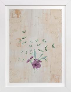 Vintage Mod Floral Art Print