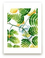 ferns on lemons by pottsdesign