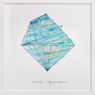 March - Aquamarine Art Print