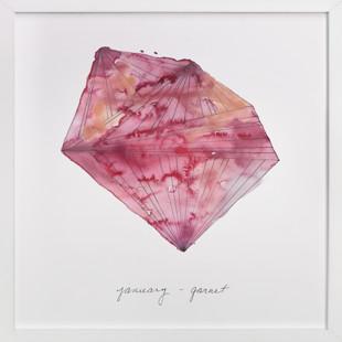 January - Garnet Art Print
