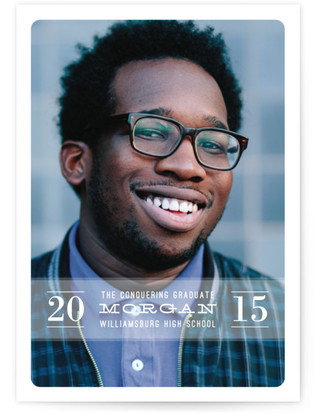 The Conquering Graduate Graduation Announcement Postcards