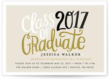 Handscript Party Graduation Announcement Postcards