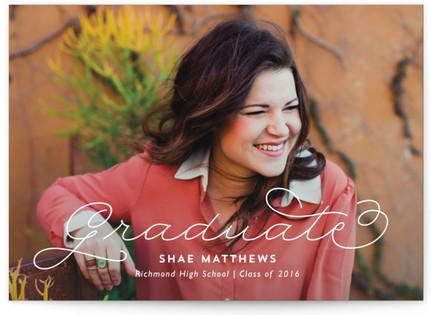 Swirly Graduation Announcement Postcards