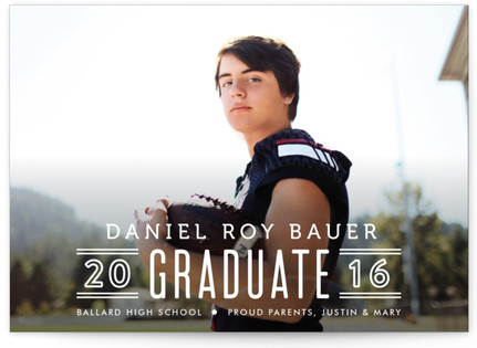 Classic Lines Graduation Announcement Postcards