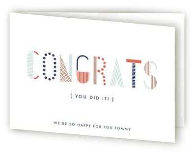 Typographic Congrats Congratulations Cards
