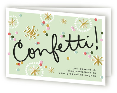 Confetti Congrats Congratulations Cards