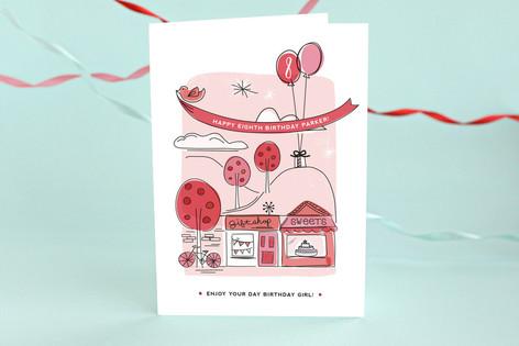Around Town Kid's Birthday Greeting Cards
