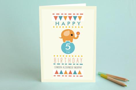 Amazing Elephant Kid's Birthday Greeting Cards