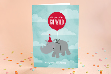 Go Wild Kid's Birthday Greeting Cards