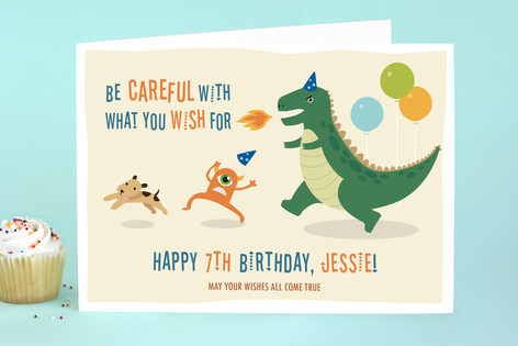 Dino Comes Alive! Kid's Birthday Greeting Cards