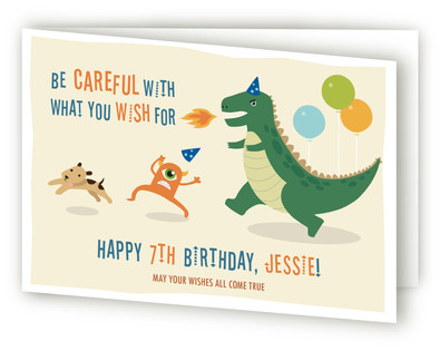 Dino Comes Alive! Kids Birthday Greeting Cards