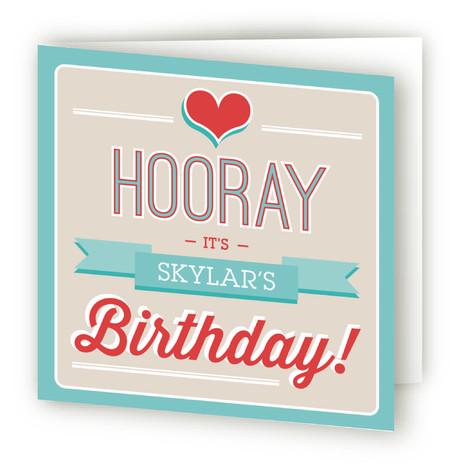 Retro Bday Kids Birthday Greeting Cards
