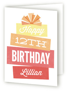 Super Stack Kids Birthday Greeting Cards