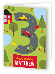 On the Road Kids Birthday Greeting Cards