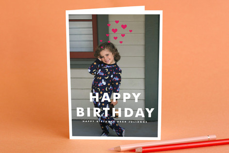 Hearts Aflutter Birthday Greeting Cards