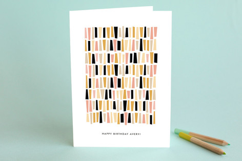 In A Row Birthday Greeting Cards