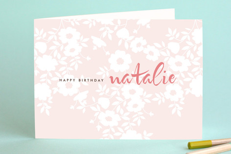Vintage Eyelette w/out Photo Birthday Greeting Cards