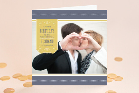 Dotted-Stripe Style Birthday Greeting Cards