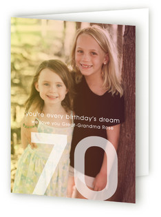 A Birthday's Dream Greeting Cards