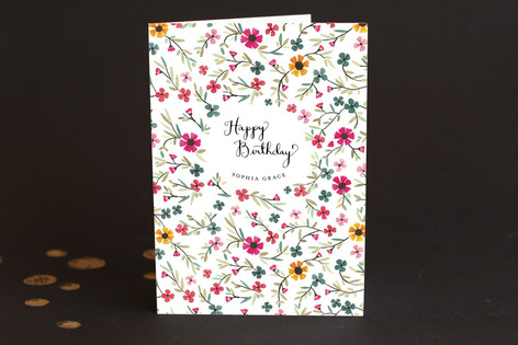 Sweet Blossoms Birthday Greeting Cards
