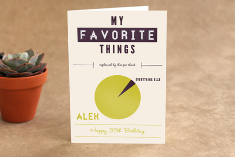 Favorite Infographic Birthday Greeting Cards