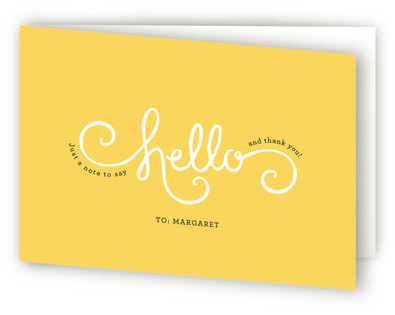 Here Comes Sunshine Adult Thank You Greeting Cards