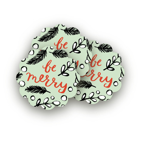 Be Merry Branches Large Stickers