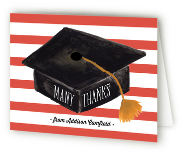 Hats Off Graduation Graduation Announcement Thank You Cards