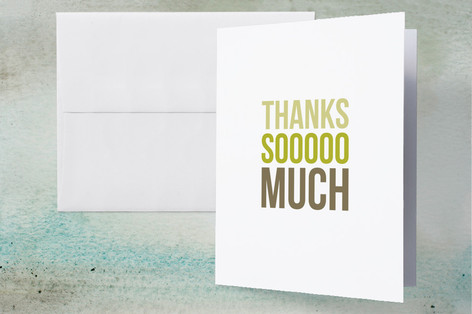 Three-Up Graduation Thank You Cards