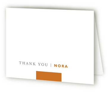 Classic Stripe Graduation Announcement Thank You Cards