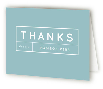 Modern Label Graduation Announcement Thank You Cards