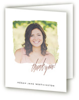 vintage wash Graduation Thank You Cards