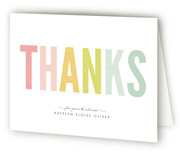 Ice Cream Parlour Pastels Graduation Announcement Thank You Cards