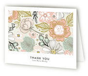 Patterned Snapshot Graduation Announcement Thank You Cards