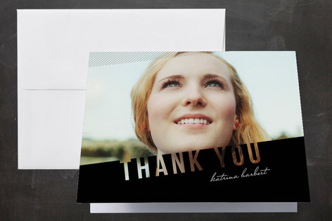 Simply See Through Graduation Thank You Cards