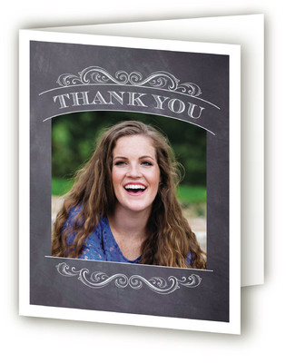 Vintage Chalkboard Graduation Announcement Thank You Cards