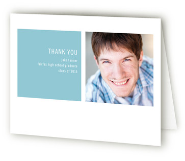 Modern Geometric Graduation Announcement Thank You Cards