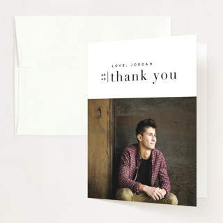 butterscotch Graduation Thank You Cards