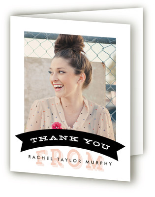Simple Banner Graduation Announcement Thank You Cards